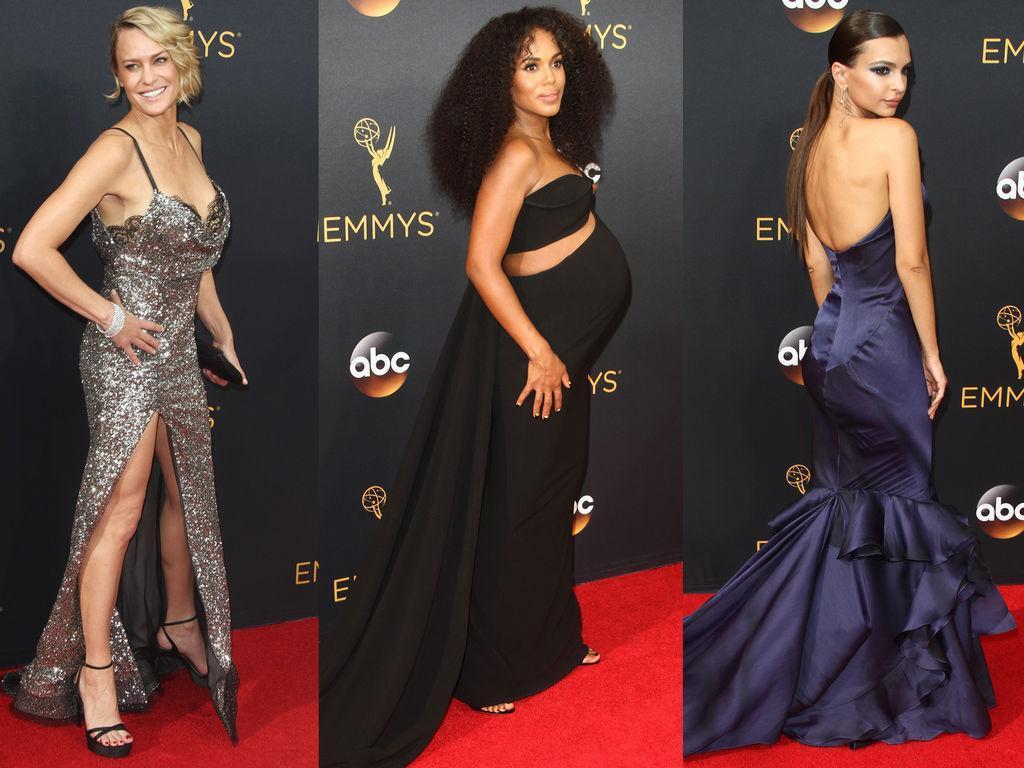 Emmy Awards 2016 Kerry Washington Enceinte Robin Wright Sexy Zoom Sur