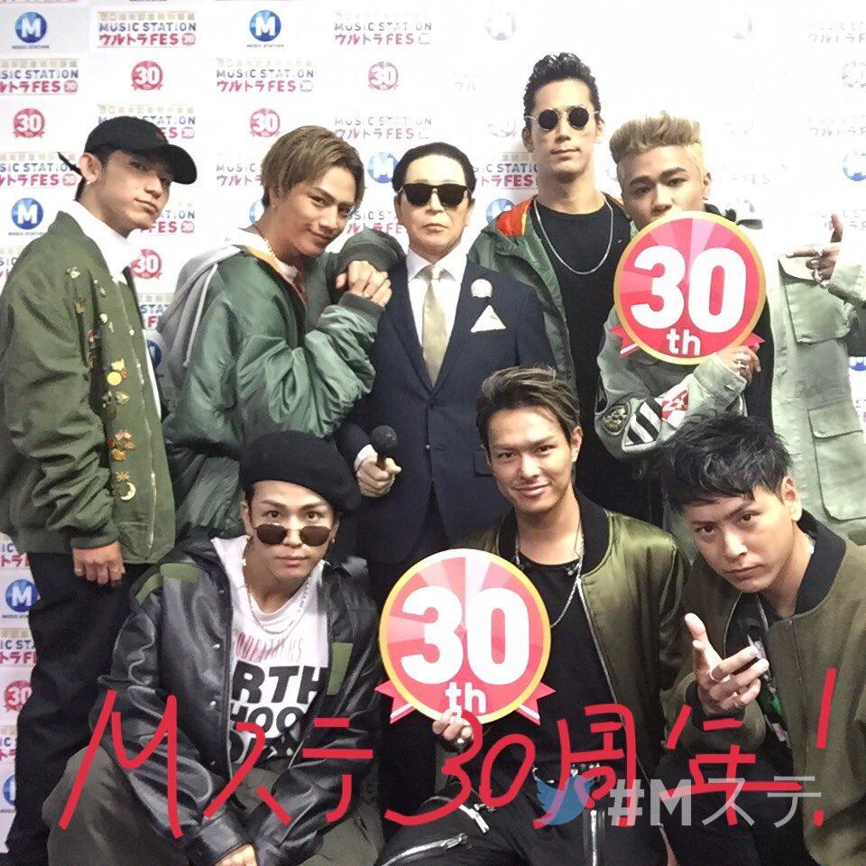 ただいま #Mステ 「ウルトラFES」テレビ朝日系列で生放送中!バックヤードから、アーティストの皆さんのリアルタイムを #Twitterミラー でお届け☆ 三代目 J Soul Brothers  @jsb3_official https://t.co/S9WPAaC3Fa