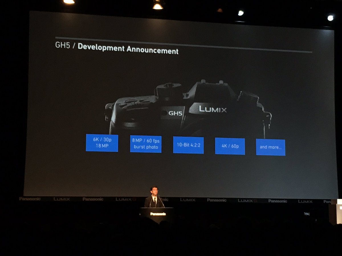 The @PanasonicProEU GH5 will have 4K / 60P and 6K / 30P https://t.co/LSp1I1oabY
