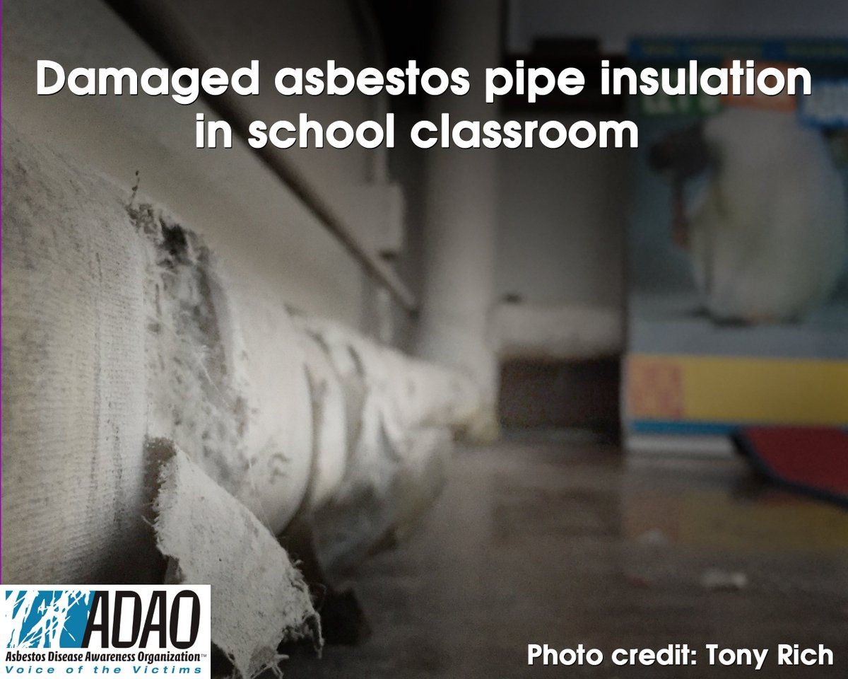 ADAO See for Yourself PHOTO: Damaged #asbestos pipe insulation in school classroom photo by @asbestorama #TSCA https://t.co/qXTXhy7rTY