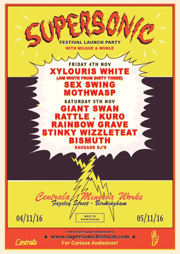 Line up for our Supersonic Fest 17 launch party - feel free to spread the word far & wide  https://t.co/wxUdAFO4mz https://t.co/5QU76yNGU1