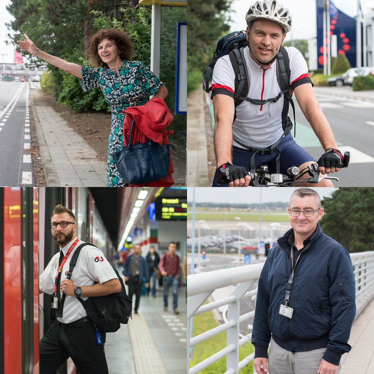 Staff of brusselsairport save twice the circumference of the planet during carfreeweek.