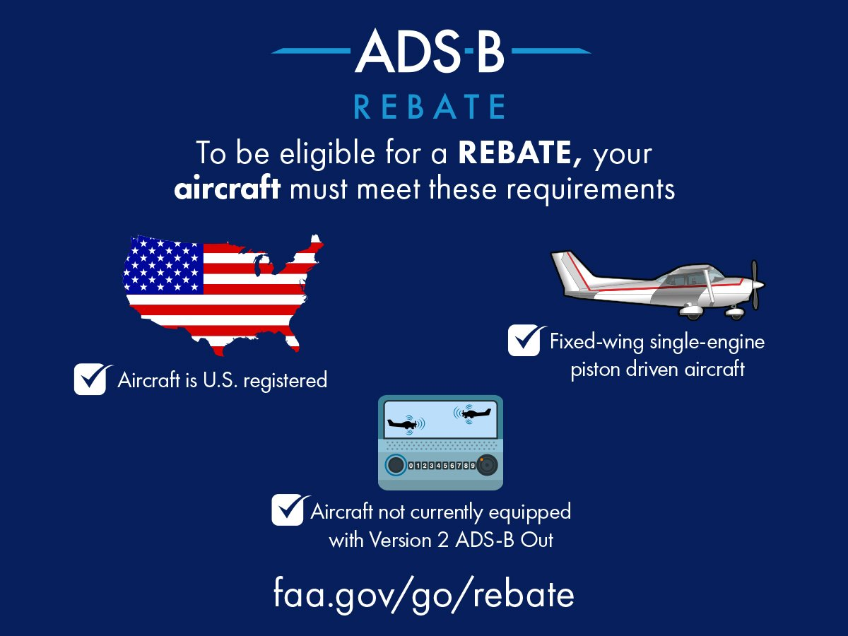 GA Pilots: The $500 FAA rebate for ADS-B is here. Are you eligible?