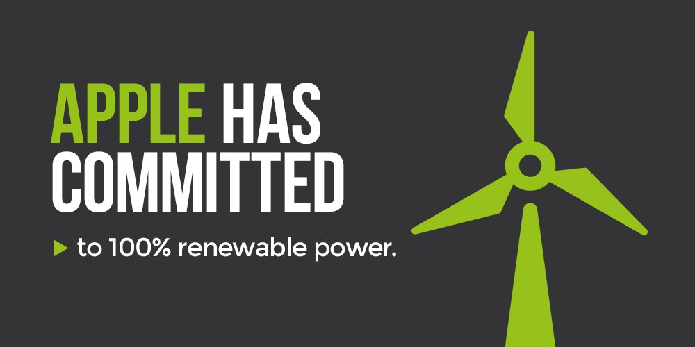 Apple announces it's joining #RE100! Commits to work w/ suppliers to get 4GW of clean energy globally by 2030 #CWNYC https://t.co/YcqVpoudA4