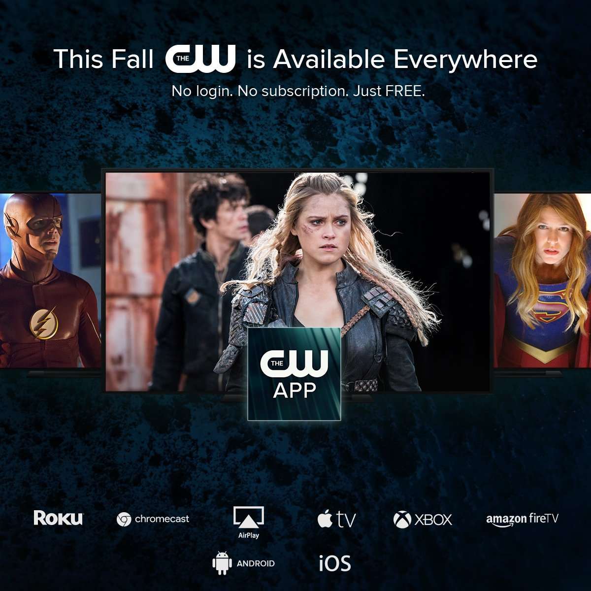 Starting next week, The CW is available everywhere. Find out more: https://t.co/KzqjPv82TD https://t.co/NEor4cB0Ip