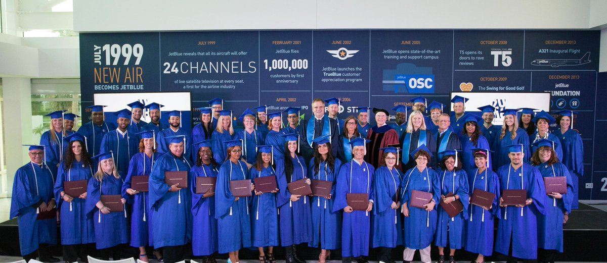 Congratulations to the first graduates of @JetBlue's college degree program!