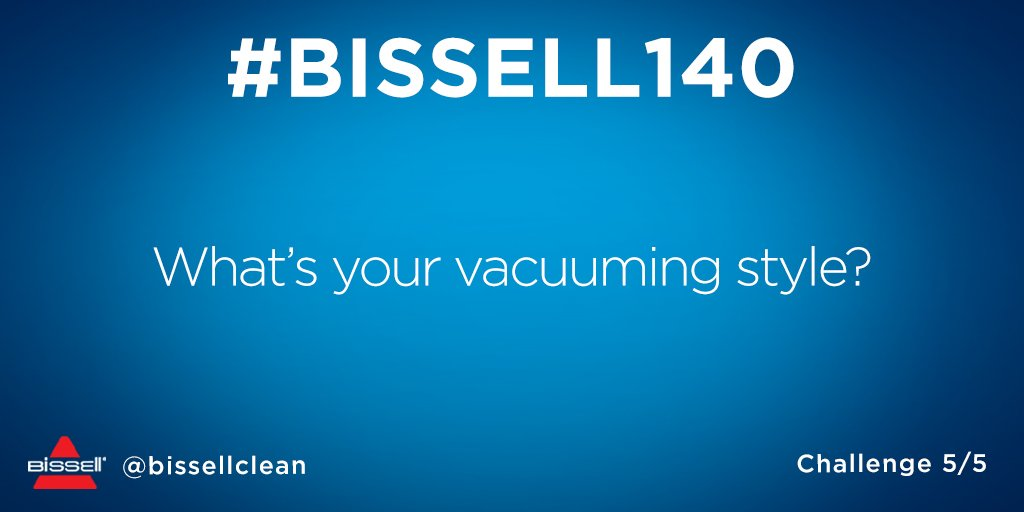 Straight rows or wherever the vacuum takes you? Reply & follow by 9pm EST—last chance to win! #BISSELL140 https://t.co/tbAYxhrgCH
