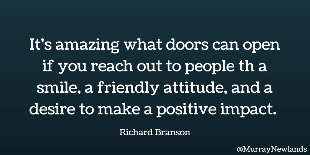 It's amazing what doors can open if you reach out to people with a smile and a friendly attitude.. #MondayMotivation https://t.co/sTlqOaGHxQ