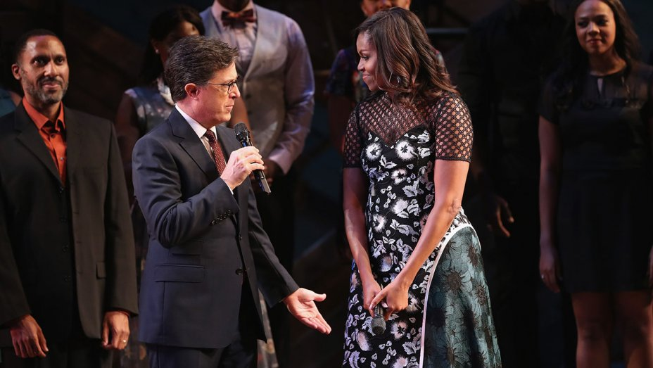 Michelle Obama hosts Broadway concert with female-led shows 'The Color Purple,' 'Waitress'