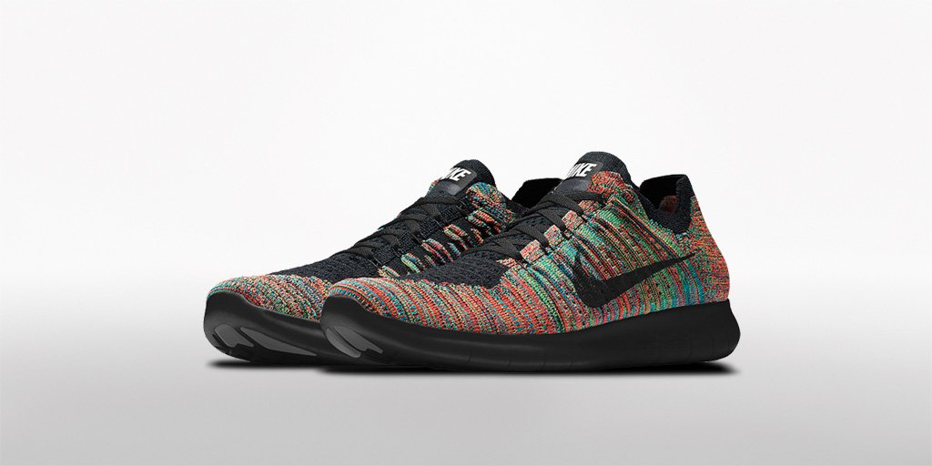 sports shoes bb9d0 8b5ef Customize your nike free rn flyknit with exclusive multicolor flyknit, only  on nikeid - scoopnest.com