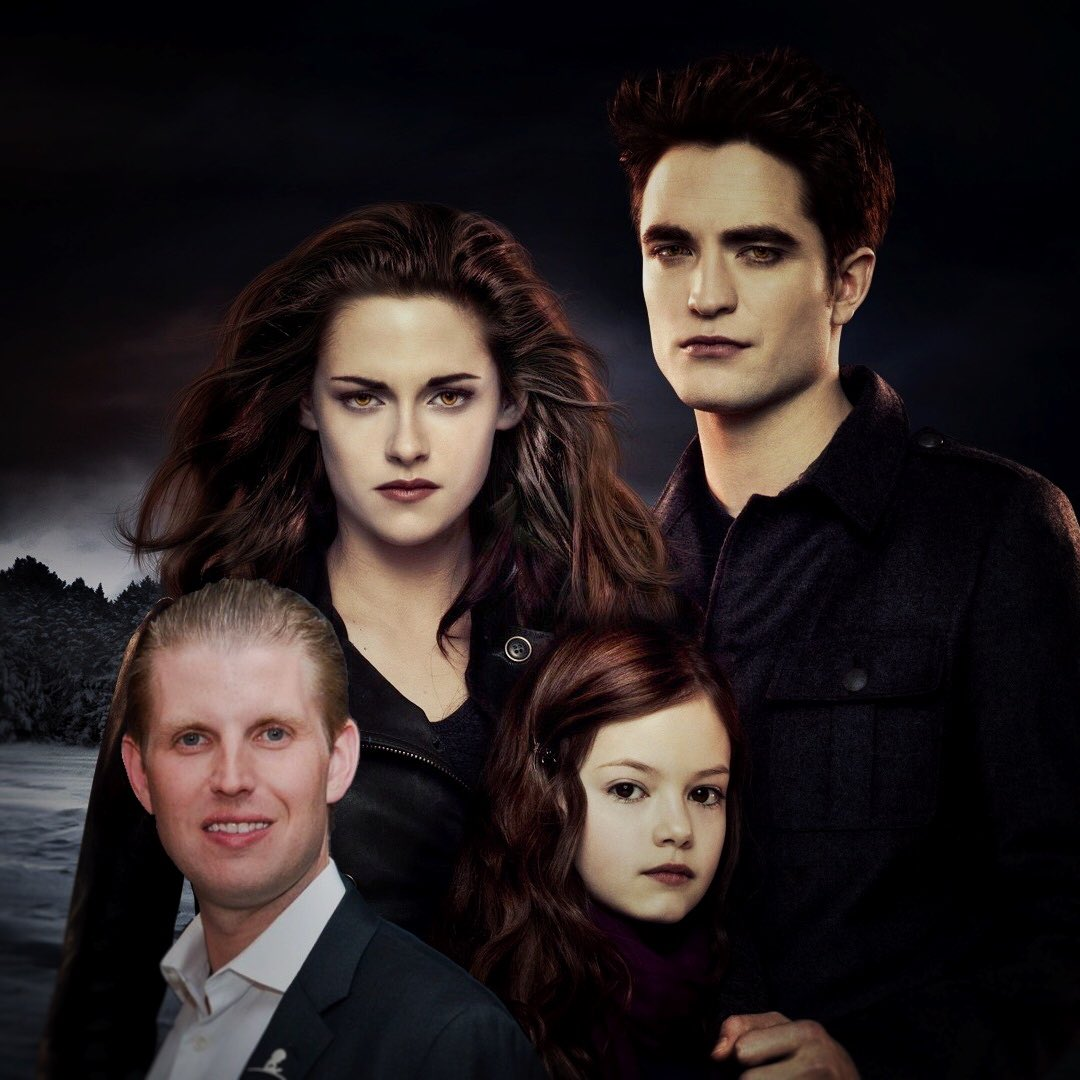 Adding Eric Trump to Twilight promotional photos is the only thing that soothes me https://t.co/XkBctBXuDD