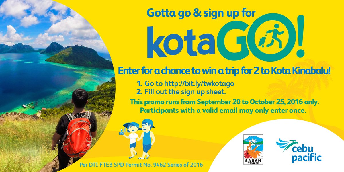 Sign up at for a chance to win 2 roundtrip tickets to Kota Kinabalu including hotel & tours!