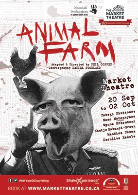 """All animals are equal, but some animals are more equal than others.""  ― George Orwell, #AnimalFarm opens tonight. https://t.co/tXBdX6Tiq4"