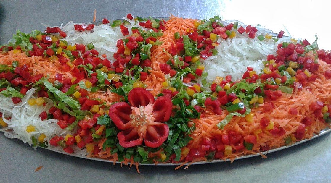 Оформление салатов фото и