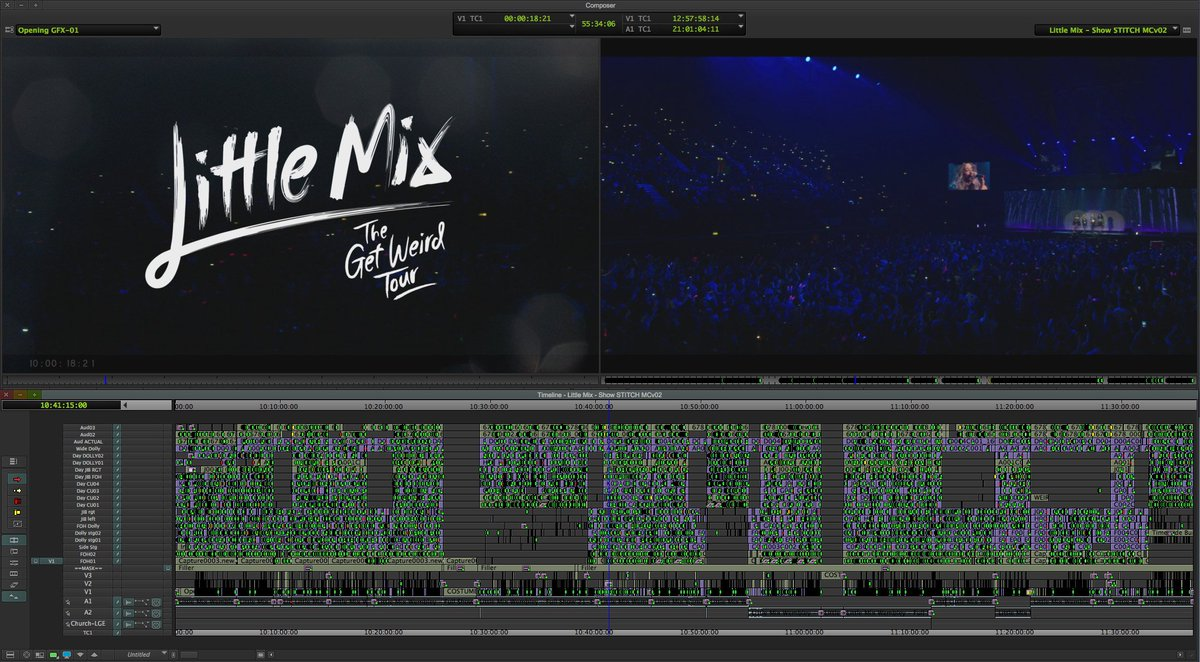 Lots of edits for @LittleMix—@MartinCraswell crafts long-form #music shows. https://t.co/jFKFMvePEC #TimelineTuesday https://t.co/uScaNF1ILc