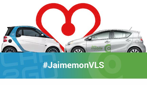 Supportons l'autopartage avec #jaimemonVLS @DenisCoderre #polmtl https://t.co/hy1HdZq9OG