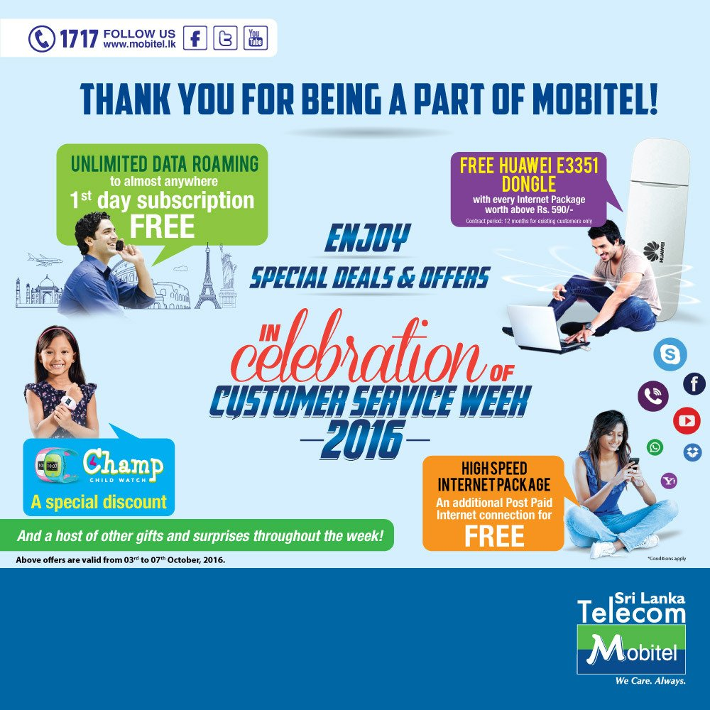 enjoy special deals offers in celebration of customer service enjoy special deals offers in celebration of customer service week 2016