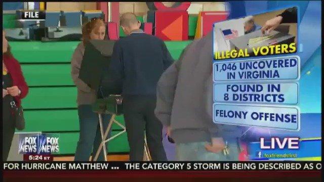 1000+ illegal aliens found on voter rolls in the crucial battleground state of Virginia (via @FoxFriendsFirst) https://t.co/ffkijM7Zw9