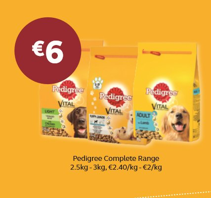 Pedigree complete range only €6 #puppylove #dogfood @wearefordogs https://t.co/quLQ6KmtuU