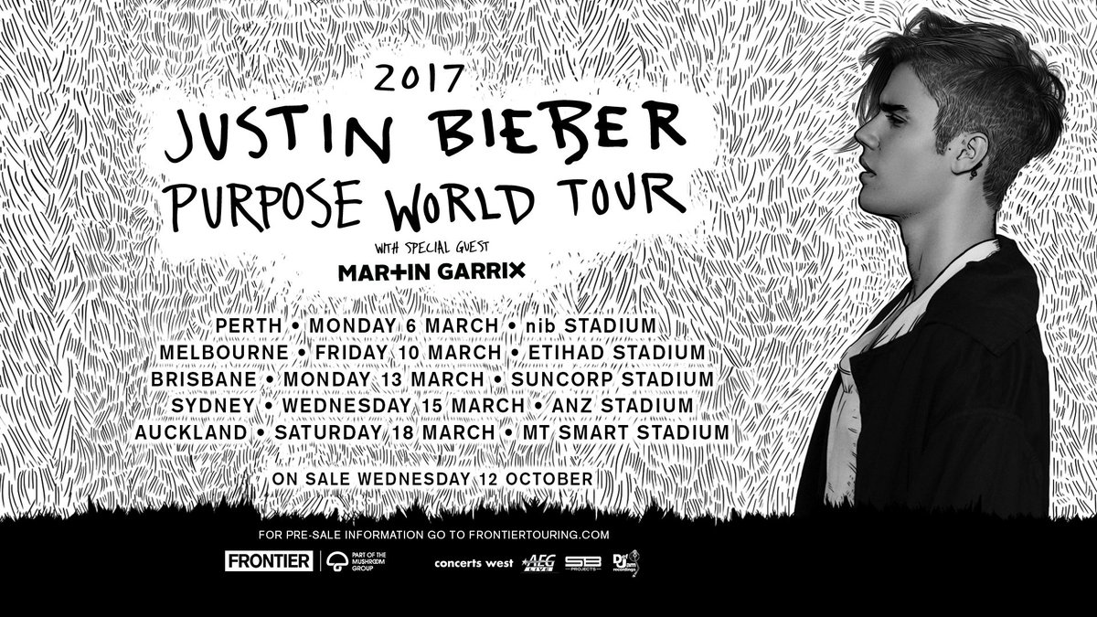 Australia and New Zealand. Bringing #PurposeWorldTour and my bro @MartinGarrix in March