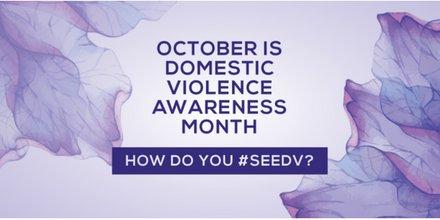 October is Domestic Violence Awareness Month! Help raise awareness & #SeeDV https://t.co/UXKLzzWUDU #DVAM2016 https://t.co/oTlCHMol6r