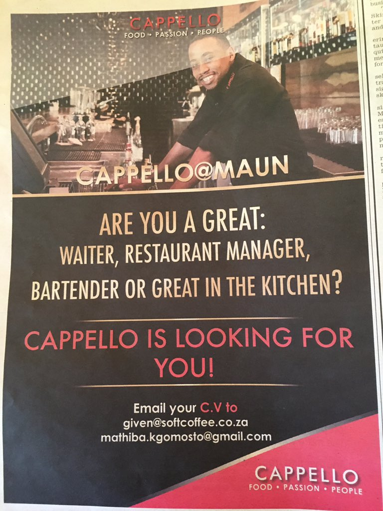 Youth of Maun, here's an employment opportunity for you!