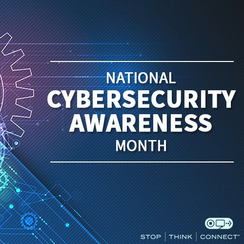 October is National Cybersecurity Awareness Month. All month long, we'll be sharing tips so you can stay #CyberAware https://t.co/D2D2WXUqy5