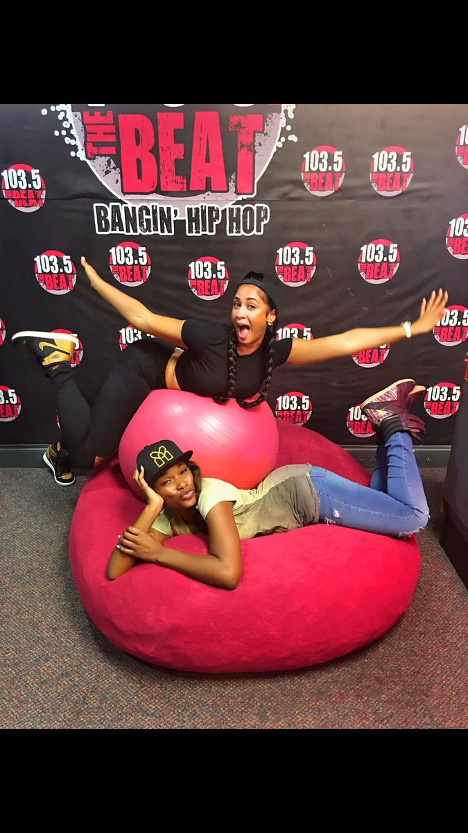 Had so much fun clowning with my girl @therealkfoxx at @1035thebeat
