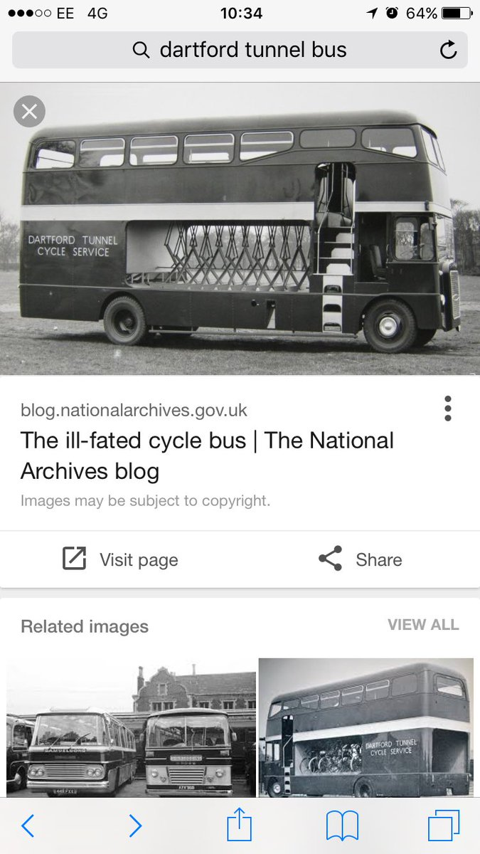 @BBCTomEdwards Like the ill-fated Dartford Tunnel bike bus? From National Archives https://t.co/YMBEaUYZiy https://t.co/7Z30pVE10u