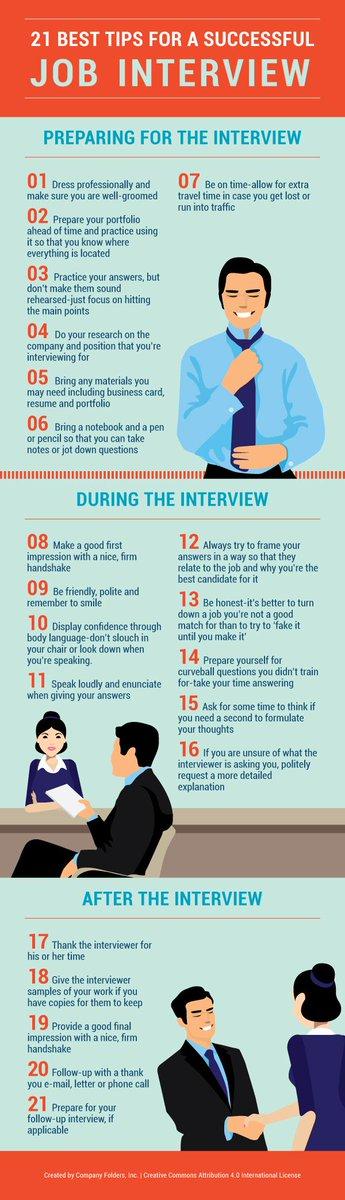 21 Interview Tips to Help YouShine https://t.co/kzwP26F95z https://t.co/NTRXHeOZvz