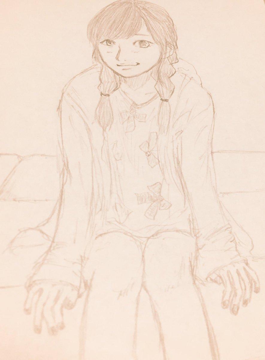 #最初にリプきたキャラを一週間描き続けて画力向上するか試すキャラではありませんが洲崎綾さん(day6)。ナナロク&洲崎西