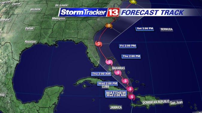 #MATTHEW: Forecast track shifts a little west, hurricane watch extends south https://t.co/CumwQkK9PU https://t.co/aaDv3Apf61