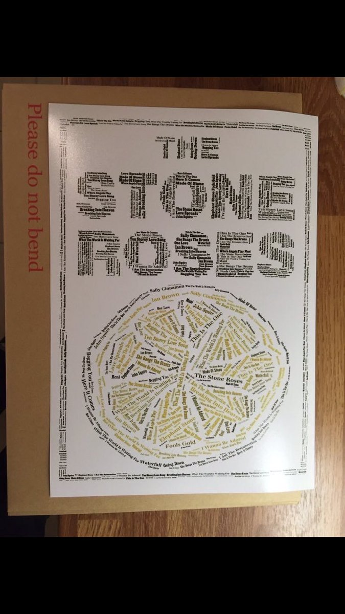 The Stone Roses I'm giving this print to a follower at 11pm To enter; - RT - Follow me Thanks! https://t.co/AprDSAzFk8