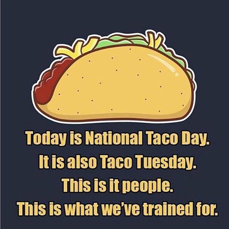 This is it!! Today is both #TacoTuesday and #NationalTacoDay. #Jackpot! ???????????????????????? https://t.co/CkhQq7WwPt
