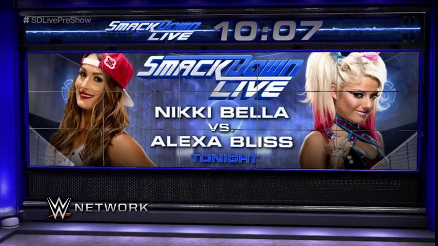 TONIGHT: Women's Title #1Contender @AlexaBliss_WWE faces Nikki @BellaTwins LIVE on #SDLive on @USA_Network! https://t.co/ZrorOAyols