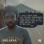 "Tonight at 10:00pm Donald Glovers hit series ""Atlanta"" returns to TV for their 5th episode. #MustSeeTV https://t.co/3ftqgYSTeX"