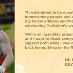 Leeds @NileMW was the first British gymnast to medal in horizontal bars. Come give him a huge cheer at #RioHeroes! https://t.co/yGaQ4OWFtW