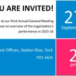 You are invited! Join us at our Annual General Meeting on Tuesday 27 September in #York https://t.co/HF6Cjhrpsv https://t.co/h4CfFUB2YO