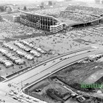 Commonwealth Stadium during @UKFootballs game vs. Maryland, Sept. 27, 1975. At bottom is the intersection of University and Cooper Drives. https://t.co/IONWxUcsiW