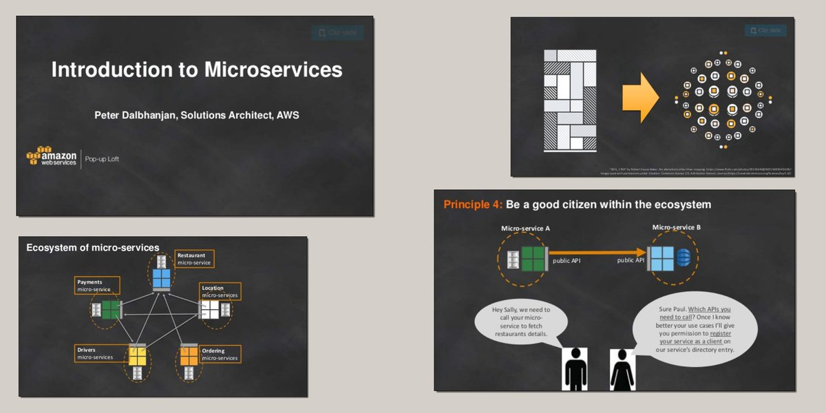 New #AWS content - Introduction to #Microservices (124 slides) - https://t.co/KbpWI8XMwh https://t.co/B067Ld6ygY