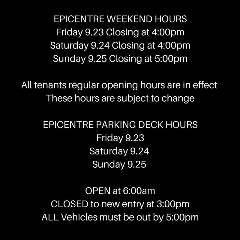 EpiCentre has re-opened today. With the curfew still in effect, we are adjusting our hours to accommodate: https://t.co/1ypwIrGg5n