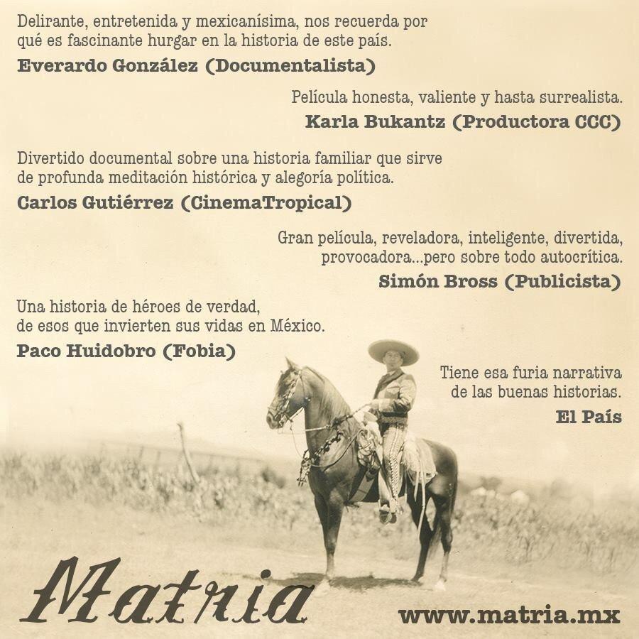 #Matria en la voz de @huidobropacorro @elever_gonzalez @CinemaTropical @el_pais @CCCMexico @elpais_cultura @fobiamx https://t.co/ejOP6MO6tC