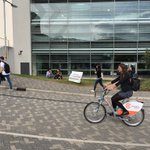 New electric bike hire site at The Forum, @UniofExeter Goes live soon. Thks Amy, Andy, Joel @bikeplusbike @CoCars @nextbikeUK @ILoveExeter https://t.co/YXJFUguSdn