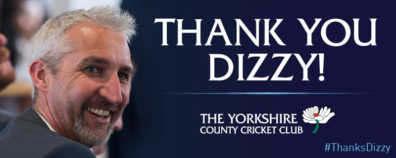 After five amazing years, all we can say is #ThanksDizzy . A true Yorkshireman for life. https://t.co/1NvKgayFAf