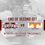 End Of Second Set | Mississippi State 2, Tennessee 0 (26-24, 25-23)  #HailState https://t.co/ZPjOYGOYLP