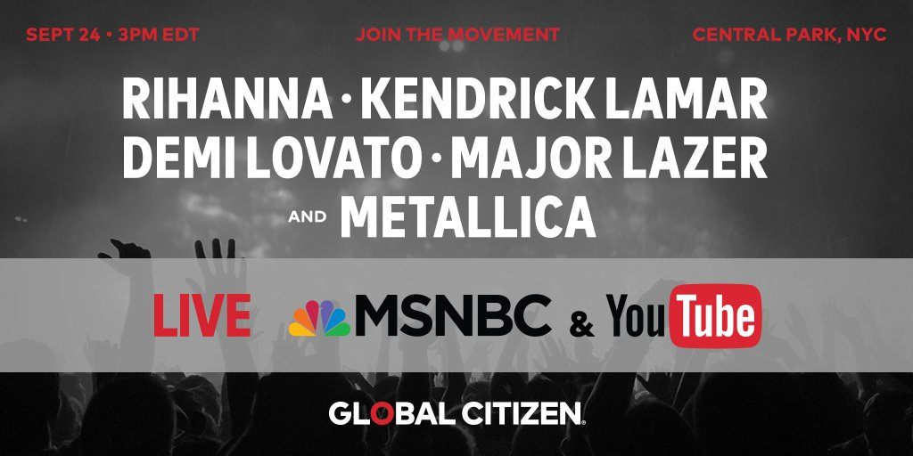 I'm in Central Park for the #GCFestival to call for an end to extreme poverty. Tune in!! https://t.co/neaj9LBmhy https://t.co/QhHbIWLlxm