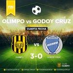 Final del partido en el #Carminatti @Olimpo_Oficial 3-0 @ClubGodoyCruz  Orgullosos de nuestros #SociosDelViento ⚽ https://t.co/M2SQXiAD2T