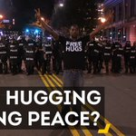 Can hugs ease tensions in Charlotte? #CharlotteProtest https://t.co/qtp47KWLxY