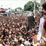 Samantha at a shopping mall opening in Kothagudem. https://t.co/rW1WJtEn03