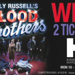 #WIN! 2 TICKETS to Blood Brothers showing at @brumhippodrome from 10-22 Oct. Simply RT before 4/10 to enter! https://t.co/hq5oAljxPt